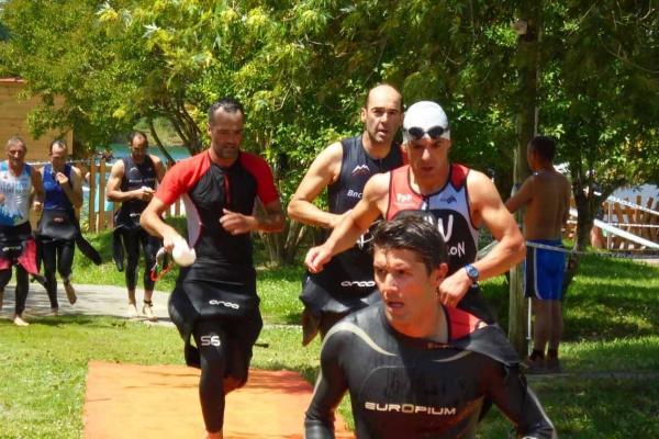 Le triathlon du Domaine du lac de Sames