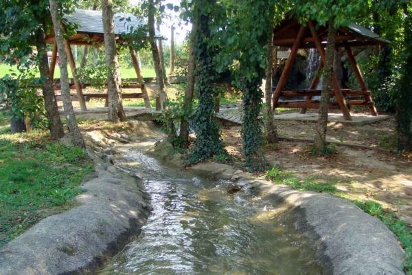 L'aire de pique-nique du Water Park de Sames