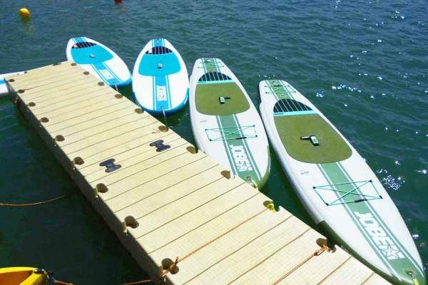 Le paddle surf et canoë du Water Park de Sames