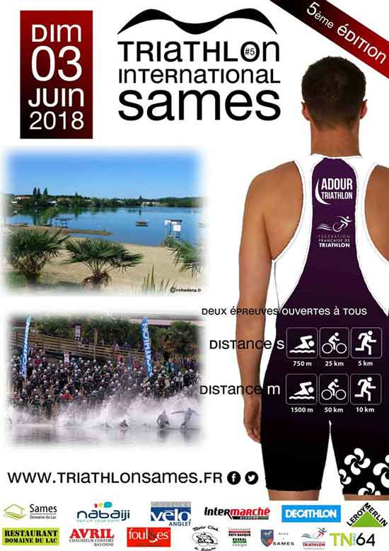 Le triathlon international du Domaine du lac de Sames 2018